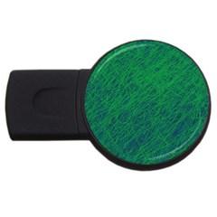 Deep green pattern USB Flash Drive Round (2 GB)
