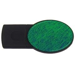 Deep green pattern USB Flash Drive Oval (2 GB)