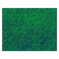 Deep green pattern Rectangular Jigsaw Puzzl