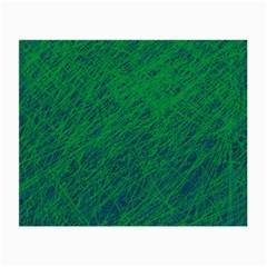 Deep green pattern Small Glasses Cloth