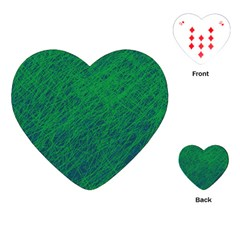 Deep green pattern Playing Cards (Heart)