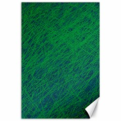 Deep green pattern Canvas 24  x 36