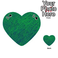 Deep green pattern Playing Cards 54 (Heart)