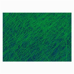 Deep green pattern Large Glasses Cloth (2-Side)