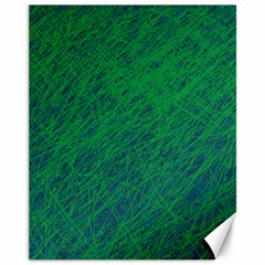 Deep green pattern Canvas 11  x 14