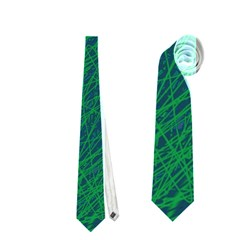 Deep green pattern Neckties (One Side)