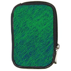 Deep green pattern Compact Camera Cases