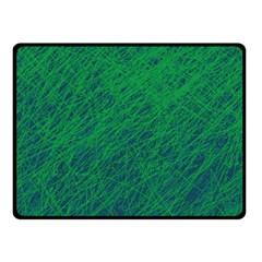 Deep green pattern Fleece Blanket (Small)