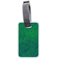 Deep green pattern Luggage Tags (Two Sides)