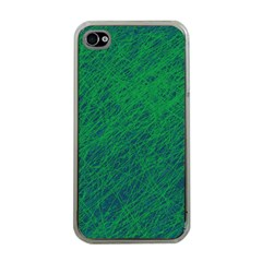 Deep green pattern Apple iPhone 4 Case (Clear)