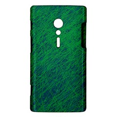 Deep green pattern Sony Xperia ion