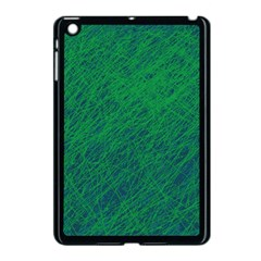 Deep green pattern Apple iPad Mini Case (Black)