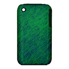 Deep green pattern Apple iPhone 3G/3GS Hardshell Case (PC+Silicone)