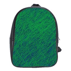 Deep green pattern School Bags (XL)