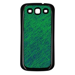 Deep green pattern Samsung Galaxy S3 Back Case (Black)