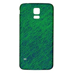 Deep green pattern Samsung Galaxy S5 Back Case (White)