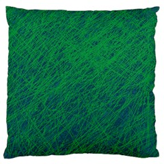 Deep green pattern Large Flano Cushion Case (One Side)