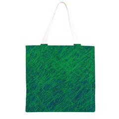 Deep green pattern Grocery Light Tote Bag