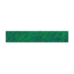 Deep green pattern Flano Scarf (Mini)