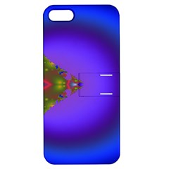 Into The Blue Fractal Apple iPhone 5 Hardshell Case with Stand