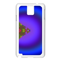 Into The Blue Fractal Samsung Galaxy Note 3 N9005 Case (White)