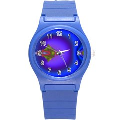 Into The Blue Fractal Round Plastic Sport Watch (S)