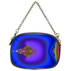 Into The Blue Fractal Chain Purses (Two Sides)