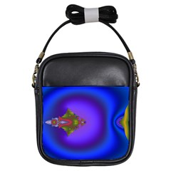Into The Blue Fractal Girls Sling Bags