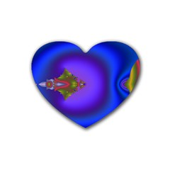 Into The Blue Fractal Rubber Coaster (heart)