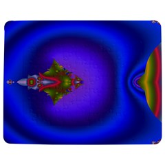 Into The Blue Fractal Jigsaw Puzzle Photo Stand (Rectangular)