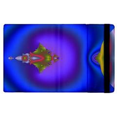 Into The Blue Fractal Apple iPad 3/4 Flip Case
