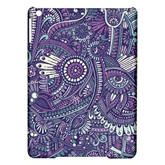 Purple Hippie Flowers Pattern, zz0102, Apple iPad Air Hardshell Case