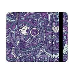 Purple Hippie Flowers Pattern, zz0102, Samsung Galaxy Tab Pro 8.4  Flip Case