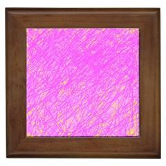 Pink pattern Framed Tiles