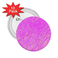 Pink pattern 2.25  Buttons (10 pack)