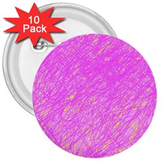 Pink pattern 3  Buttons (10 pack)