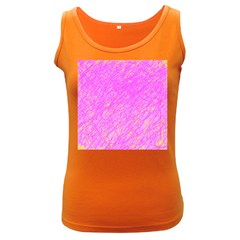 Pink pattern Women s Dark Tank Top