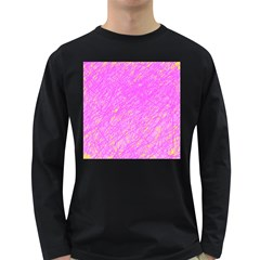 Pink pattern Long Sleeve Dark T-Shirts