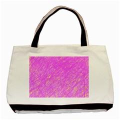 Pink pattern Basic Tote Bag
