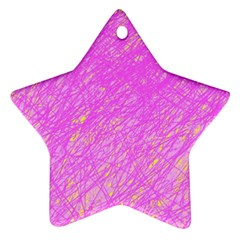 Pink pattern Star Ornament (Two Sides)