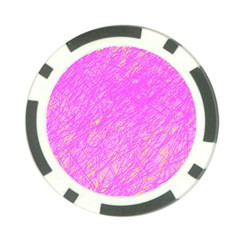 Pink pattern Poker Chip Card Guards