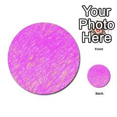 Pink pattern Multi-purpose Cards (Round)