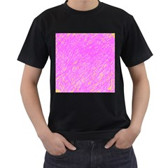 Pink pattern Men s T-Shirt (Black)