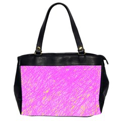 Pink pattern Office Handbags (2 Sides)
