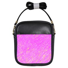 Pink pattern Girls Sling Bags