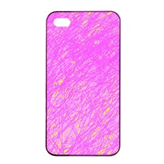 Pink Pattern Apple Iphone 4/4s Seamless Case (black)