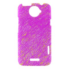 Pink pattern HTC One X Hardshell Case
