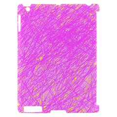 Pink pattern Apple iPad 2 Hardshell Case (Compatible with Smart Cover)
