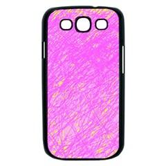 Pink pattern Samsung Galaxy S III Case (Black)