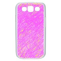 Pink pattern Samsung Galaxy S III Case (White)